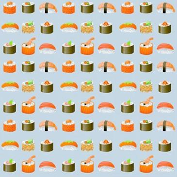 KidsFabrics Fabric DIGSUSHI.55.140